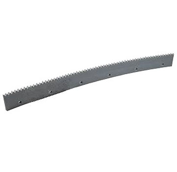 Squeegee Refills, 24 x 3/16 inch Serrated Edge, Gray EPDM (6) - 24 x 3/16 inch Serrated Edge (V), Gray EPDM Rubber Replacement Squeegee Blades. 6/Box. Price/Box. Fits most popular squeegee heads. (special order; leadtime: 1-2 weeks; 20% restock fee for returns)