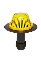 3 in. ABS Reroof Drain, Plastic Dome, 14 In Downspout