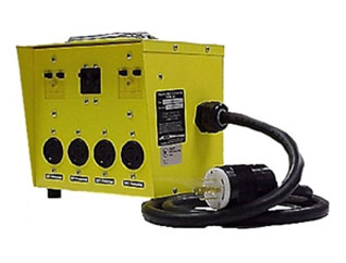 Mini Power Box 6502GTL, Inlet 20A 250V, 4 Outlet 20A L5-20R Twist Lock - CEP #6502GTL Temporary Power Distribution Box / Mini Portable Power Center.  Inlet: 20A 240V L14-20P with 6 foot 10/4 SOW cord. Outlets: 4 each 20A 125V L5-20R Locking with GFCI Protection. Price/Each. (Shipping Leadtime 1-2 business days)
