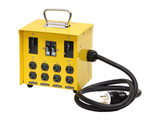 Mini Power Box 6502GU, Inlet 20A 250V, 8 Outlet 20A UG - CEP #6502GU Temporary Power Distribution Box / Mini Portable Power Center. Inlet: 20A 240V L14-20P with 6 foot 10/4 SOW cord. Outlets: 8 – 20A 125 (5-20R) Duplex with GFCI / U-Ground. Price/Each. (Shipping leadtime 1-3 business days)