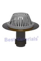 3 in. ABS Reroof Drain, Aluminum Dome, Clamp Ring, Exp. Seal