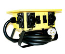 Temporary Power Dist. Box, Inlet 50A 240V, 4 Outlet L5-20R Twist Lock