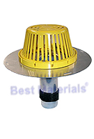 2 in. Aluminum Re-Roof Drain, Plastic Dome, Expanding Seal