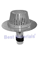 2 in. Aluminum Re-Roof Drain, W/ CAST Aluminum Dome