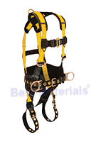Full Body Harness, With Tool Belt, 3 D-Ring, 5 Point, L Size