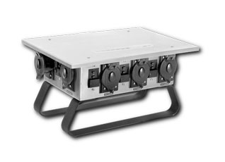 Temporary Power Distribution Classic Box, U Ground, STAINLESS STEEL - CEP #7506GU Temporary Power Distribution Classic Box in Stainless Steel. U Ground. 50 AMP CS6375 250V Inlet. Outlets: 1- 50A CS6369 125/250V, 1- 30A 250V L6-30R, 6- 20A 5-20R 125V GFCI Protected. Price/Each. (Shipping Leadtime 1-2 business days)