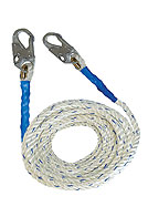 5/8 in. X 25 Ft. Vertical Lifeline Polyester Rope, 2 Snap-Hooks