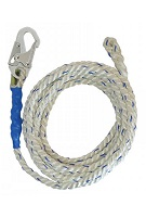 5/8 in. x 300 ft. Vertical Lifeline Polyester Rope, Hook/Thimble
