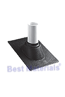 Shingle Roof 1.25-1.5 in. Pipe Flashing, Thermoplastic Base (1)