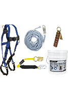 Roofers Fall Arrest / Fall Protection Kit w/ Hinged Anchor
