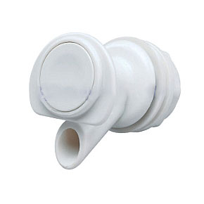 Push Button Spigot For Igloo Coolers - GENUINE IGLOO #8147 REPLACEMENT PUSH BUTTON FAUCET / SPIGOT WITH GASKET & NUT. FITS ALL 1 to 10 GALLON IGLOO BEVERAGE COOLERS (and most other brands of water coolers). PRICE/EACH.