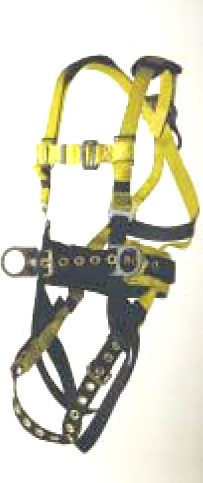 Ultra-Safe Full Body Harness, Iron Workers Type, XXL - ULTRA-SAFE 96396B FULL BODY SAFETY HARNESS, IRON WORKERS TYPE, WITH TOOL BELT AND BACK PAD. TONGUE & BUCKLE CONNECTIONS. D-RING ON BACK. SIZE XXL.