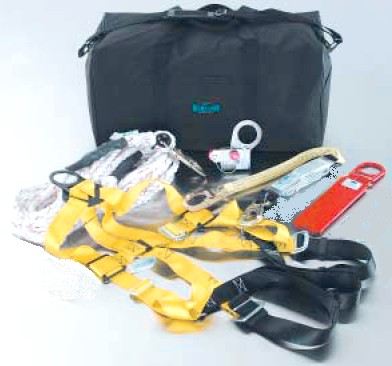 Ultra-Safe Deluxe Roofers Fall Protection Kit w/ Removeable Grab - ULTRA-SAFE # 96950 DELUXE ROOFERS FALL ARREST / PROTECTION KIT WITH REMOVEABLE ROPE GRAP SYSTEM. INCLUDES 5 POINT FULL BODY HARNESS W/ D-RING, 50