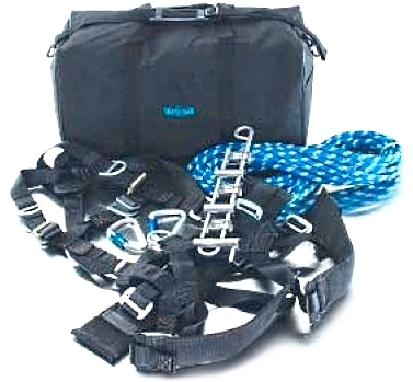 Ultra-Safe #96951 Rappelling Kit with 200 Foot Rope - ULTRA-SAFE # 96951 RAPPELLING KIT. INCLUDES RAPPELLING HARNESS, RAPPELLING RACK, 1/2 INCH X 200 FT RAPPELLING ROPE, HARDWARE AND BAG. PRICE/KIT.