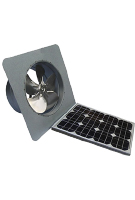 Solar Attic Fan, Gable Mount, 25W w/therm., Galv