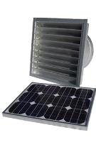 SOLAR POWERED ATTIC FAN, GABLE VENT, REMOTE MOUNT, 25W 1550 CFM W/ THERMOSTAT, UNPAINTED