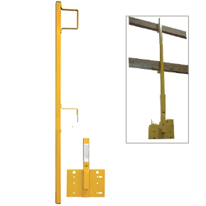 ACRO 12045 Vertical Guardrail Base Bracket and Post - ACRO 12045 Vertical Guardrail Base Bracket and Post, for Fall Protection. Price/Each.
