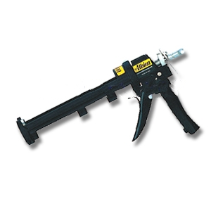 Albion #846-1U 1/10 Gallon Caulking Gun, Ultra Drive 32:1 Thrust - Albion 846-1U 1/10 Gallon (10oz) Cartridge Caulk Gun with 2-Speed Adjustable Ultra Drive (up to 1100 lb. force, 32:1 thrust, for very thick materials and precise dispensing). Price/Each.