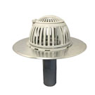 4 inch Aluminum New Construction Drain, Flip Top Dome, for Flat Deck