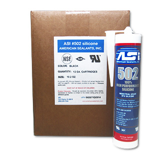 ASI 502  Silicone Sealant RTV, TRANSLUCENT WHITE Color (case/24) - ASI 502 TRANSLUCENT WHITE COLOR Silicone Sealant, Acetoxy RTV Curing 100% Silicone. Kitchen, bath and food grade compliant, non-sagging and waterproof. 10.2 oz cartridges. 24/Case. Price/Case. (shipping leadtime 1-3 business days)