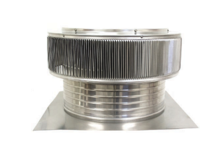 18 in. Aura Ventilator, 6 in. Collar, for Tile/Foam Roof - 18 in. inside diameter Aura Ventilator plus 24 x 24 inch base flange with a 6 in. collar height. For tile/foam roof. All aluminum, mill finish. Price/Each. (shipping leadtime 2 business days)