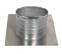 Aura Square Base Flange With 6 in. Collar For 18 in. Vent - Aura 18 inch I.d. Vent Base. 24 x 24 inch Square Base Flange With 6 inch High Round Collar. Fits all 18 inch ID Vents. All Aluminum. Mill Finish. Price/Each.