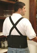 BACK SUPPORT, SAMSON, PREMIUM, 2XL (1) - PREMIUM BACK SUPPORT, MADE BY SAMSON, 2XL, DOUBLE EXTRA-LARGE SIZE. PRICE/EACH.