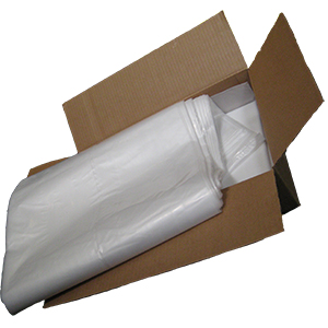 Plastic Trash Bags, 60+ Gallon, 14x22x60 in., 2.0 mil (100) - PLASTIC TRASH BAG, HEAVY GRADE, 14 in. x 22 in. x 60 in., SQUARE BOTTOM, 60+ GALLON, CLEAR, 2 MIL THICK . 100 BAGS/CASE. PRICE/CASE.