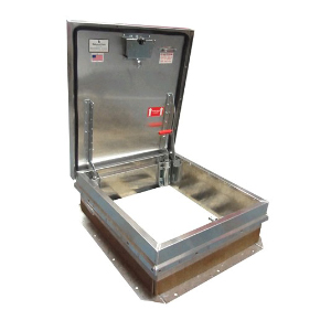 36 x 30 Roof Access Hatch,  Aluminum, Mill Finish - ROOF ACCESS HATCH, 36 LONG X 30 WIDE OPENING, MILL FINISH 0.090 in. (11 GAUGE) ALUMINUM COVER & FRAME, SELF FLASHING BASE. HINGE IS ON THE 30 SIDE. MADE IN USA BABCOCK-DAVIS. PRICE/EACH.