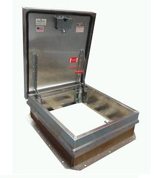 36 X 30 Hurricane Rated Roof Hatch All Aluminum Mill Finish