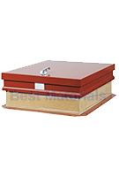 36 x 30 Hurricane Rated Roof Hatch, Ladder Access RED Finish Steel