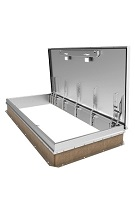 4 x 6 ft. Single Door Equipment Access Roof Hatch, All Aluminum