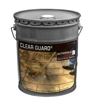 Butterfield Clear Guard Cure and Seal, Gloss, 5G - Butterfield CGG5, Clear Guard Cure and Seal with Gloss Finish, UV Stable. 5-Gallon Can. Price/Can. (hazmat; high VOC; restricted shipping to VOC locations; MasterKure CC 300 SB recommended)