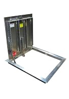 30 x 30 Floor Door, Existing Opening, 1- Door, Aluminum, Slam Latch