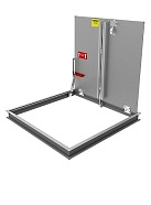 24 x 30 Floor Door, Aluminum, 1- Door, Non-Drainable, New Const.