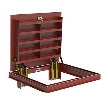 30 X 30 Inch Bilco J 2h20 Floor Access Door Steel Exterior Red 1