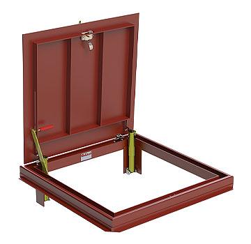 30 X 60 Inch Bilco J 8 Floor Access Door Steel Exterior Red 1