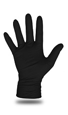 Boss Disposable 6 Mil Black Nitrile Gloves, LARGE Size (Box/100)