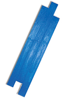 6 x 18 inch Hardwood Plank Pattern concrete stamp, Rigid. Blue