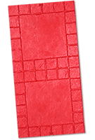 Tumbled Edge Stone Concrete Stamp. 18-in pattern. 4-in Border. Rigid