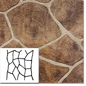 Concrete Stencil Flagstone Non Adhesive 33 in x sq ft roll