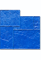 English Rivenstone concrete stamp. 36x36in. Flexible. Blue.