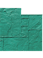 English Rivenstone concrete stamp. 36x36in. Flexible. Green.