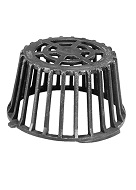 12 in. Cast Iron Drain Dome / Strainer, Self Locking