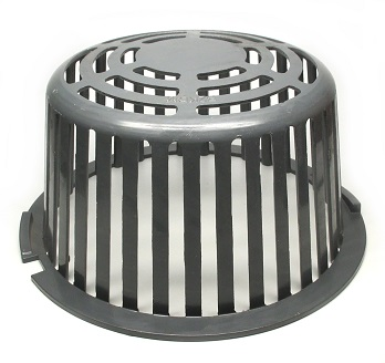 12 In Cast Aluminum Drain Dome Strainer Self Locking