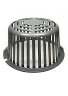 12 in. Cast Aluminum Drain Dome / Strainer, Self Locking