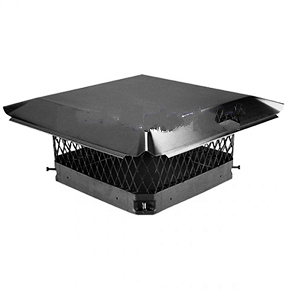 Galvanized Steel Chimney Cap, 13 in. x 18 in, Single Flue, Black - HY-C Company #CBO1318 Draft King Single-Flue Chimney Cap, 13-1/4 x 18-1/4 inches. Black Finished 24 Gauge Galvanized Steel with 14 Gauge Galvanized Steel Base. Price/Each. (shipping lead time 2-5 business days)