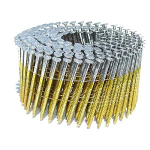2 in. x .0.083 in. 6D Coil Framing / Siding Nail, RING Shank (14000) - 2 in. x .083 in. 6D COIL FRAMING NAIL / SIDING NAILS, BRIGHT, RING SHANK, DIAMOND POINT, 15 DEGREE WIRE COLLATED, 14000/BOX, PRICE/BOX. (40 boxes/pallet)