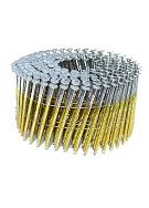 1 In. X .0.083 Coil Siding Nail, Bright, Ring Shank (14000)