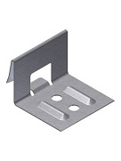 1-1/4 in. Snap-Lock Panel Clip, 1-3/4 wide 2-Hole, Stainless, box/800